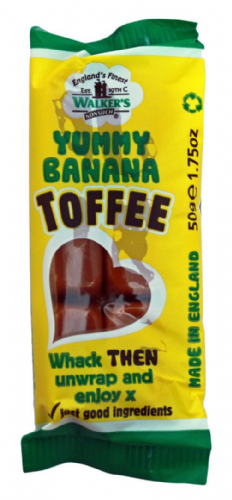 Walkers Nonsuch Yummy Banana Toffee 50g	 (UK)